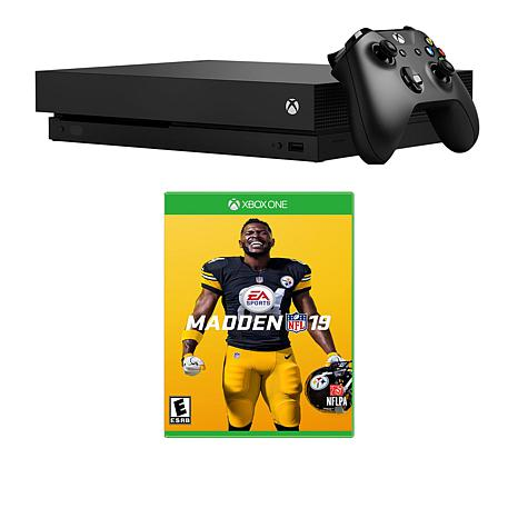 Xbox One X 1TB 4K Console with Madden NFL 19 and Accessories  8789340  HSN