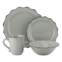 10 Strawberry Street Oxford 24-Piece Dinnerware Set - Cream