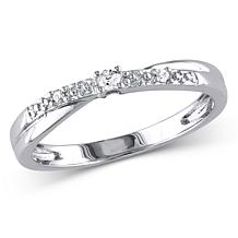 10K White Gold .05ctw Diamond Promise Ring