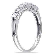 10K White Gold .49ctw Diamond 7-Stone Anniversary Ring