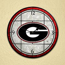 "12"" Glass Wall Clock - University of Georgia Bulldogs"