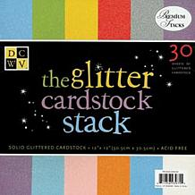"""12"""" x 12"""" Solid Glitter Paper Stack"""
