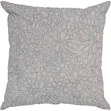 "18"" x 18"" Embroidered Petal Pillow - Gray/Dark Gray"