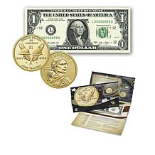 2016 Native American $1 Coin and $1 Series 2013 Currency Note Set