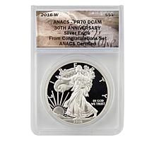 2016 PR70 Congratulations 30th Anniversary Silver Eagle