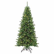 7-1/2' Remote-Operated Pre-Lit Kingston Pine Tree - 250 Color-Chang...