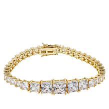 Absolute™ Gold-Plated Quadrillion-Cut Line Bracelet
