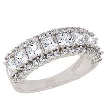 Absolute™ Sterling Silver Cubic Zirconia Triple-Row Ring