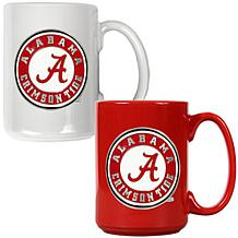 Alabama Crimson Tide 2pc Coffee Mug Set