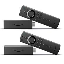 Amazon 2-pack Fire TV Sticks 4K with Alexa Voice Remote & Vouchers