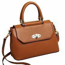 Anna Cai Genuine Leather Top Handle Purse