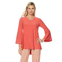 """Antthony """"Futuristic Vibe"""" Bell-Sleeve V-Neck Top"""