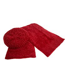 "Antthony ""Timeless Textures"" Chenille Scarf and Beret"