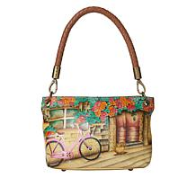 Anuschka Hand Painted Leather Braided Handle Shopper