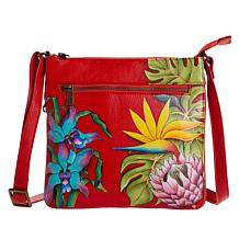 Anuschka Hand Painted Leather Expandable Crossbody