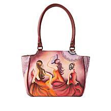 Anuschka Hand-Painted Leather Shoulder Bag
