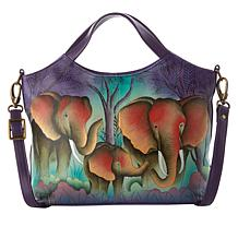 Anuschka Hand Painted Leather Shoulder Tote