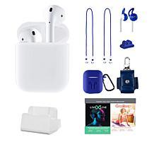 Apple AirPods 2nd Gen. Earbuds & Charging Case w/Accessories & Voucher