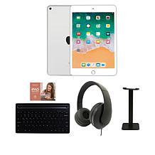 Apple iPad Mini 5 64GB Silver w/Bluetooth Keyboard and Voucher