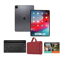 "Apple iPad Pro 11"" 128GB Tablet Bundle with Keyboard"