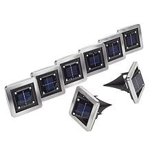 """""""As Is"""" Bell + Howell 8-pack Square Solar Swivel Deluxe Disk Lights"""