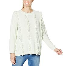 """""""As Is"""" DG2 by Diane Gilman Looped Chenille Fringed Pullover Sweater"""