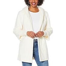 """""""As Is"""" Laurier Hooded Faux Fur Coat with Storm Cuffs"""