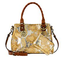 """""""As Is"""" Patricia Nash Norcia Leather Crossbody with Zip Pouch"""