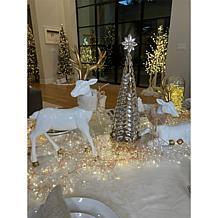 "august & leo 18.5"" Champagne Jeweled Tree"