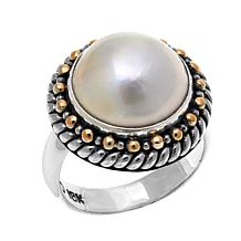 Bali Designs Mabé Pearl Bead Detail 2-Tone Ring