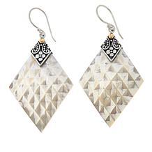 Bali RoManse Mother-of-Pearl Diamond-Shape Drop Earrings