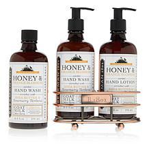Beekman 1802 Honey & Orange Blossom Hand Wash & Lotion Caddy Set