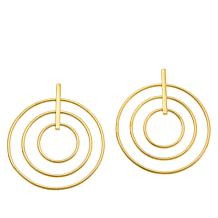 Bellezza Bronze Multi-Circle Dangle Earrings