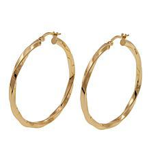 Bellezza Bronze Twisted Hoop Earrings