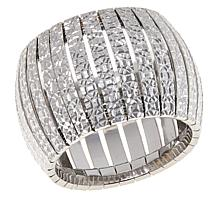 Bellezza Sterling Silver Diamond-Cut Wide Band Ring