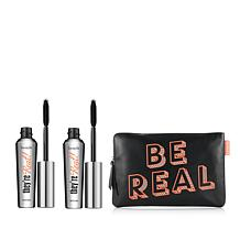 """Benefit Cosmetics """"They're Real!"""" Mascara Duo with Bag"""