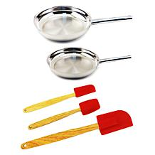 BergHOFF® EarthChef Stainless Steel Fry Pan Set with Tools