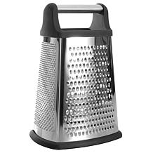 """BergHOFF Essentials 10"""" Stainless Steel 4-Sided Grater with Handle"""