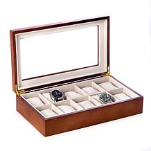 Bey-Berk Cherry Wood 10-Watch Box