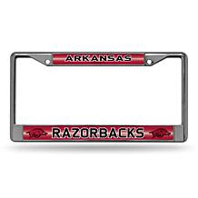 """Bling"" License Plate Frame - University of Arkansas"