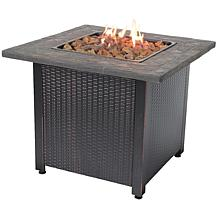 Blue Rhino Uniflame Faux Slate Square Outdoor Fire Pit