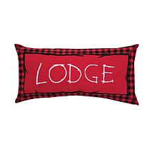 Buffalo Check Lodge Embroidered Pillow