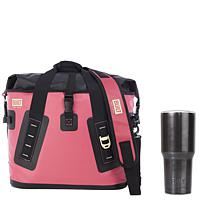 Built New York Large Welded Cooler Bag with Stainless Steel Tumbler