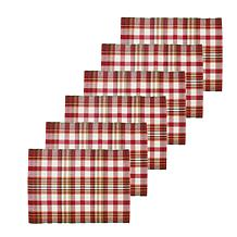 C&F Home Abingdon Plaid Placemat Set 6