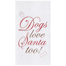 C&F Home Dogs Love Santa Towel Set of 2