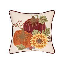 C&F Home Pumpkins Sunflower Pillow