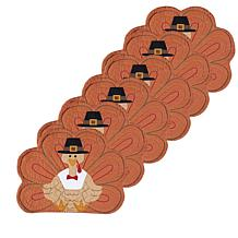 C&F Home Turkey Shaped Quilted Placemat Set of 6
