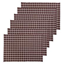 C&F Home Windowpane Cocoa Pmat S-6