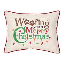 C&F Home Woofing Christmas Pillow