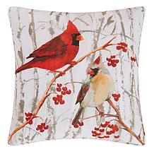 Cardinal Pair Indoor  Outdoor Pillow